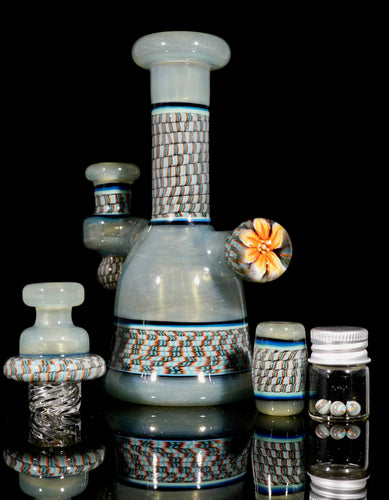 Conversion Pastel Potion Blossom Coil Pot Tube + Spinner Cap + Terp Pearls + Bead Set