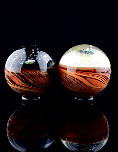 Blitzkriega UV and Wood Grain Marbles with Opal Chunk