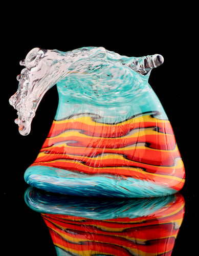 Black Sand Glass & Leckie Glassworks Lava Wave