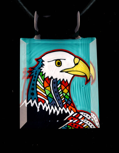 Kevin Murray & Grampa Facets Rainbow Eagle Pendant