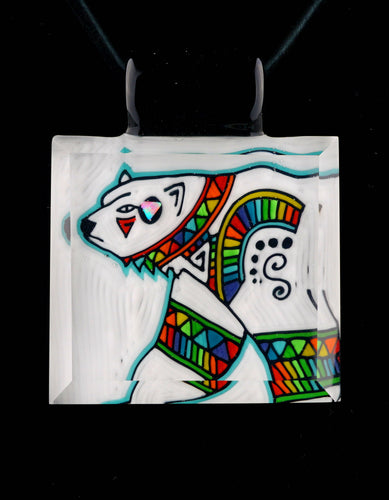 Kevin Murray & Grampa Facets Rainbow Polar Bear Pendant