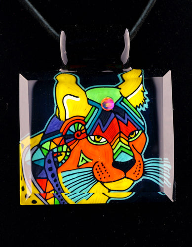 Kevin Murray & Grampa Facets Rainbow Cougar Pendant