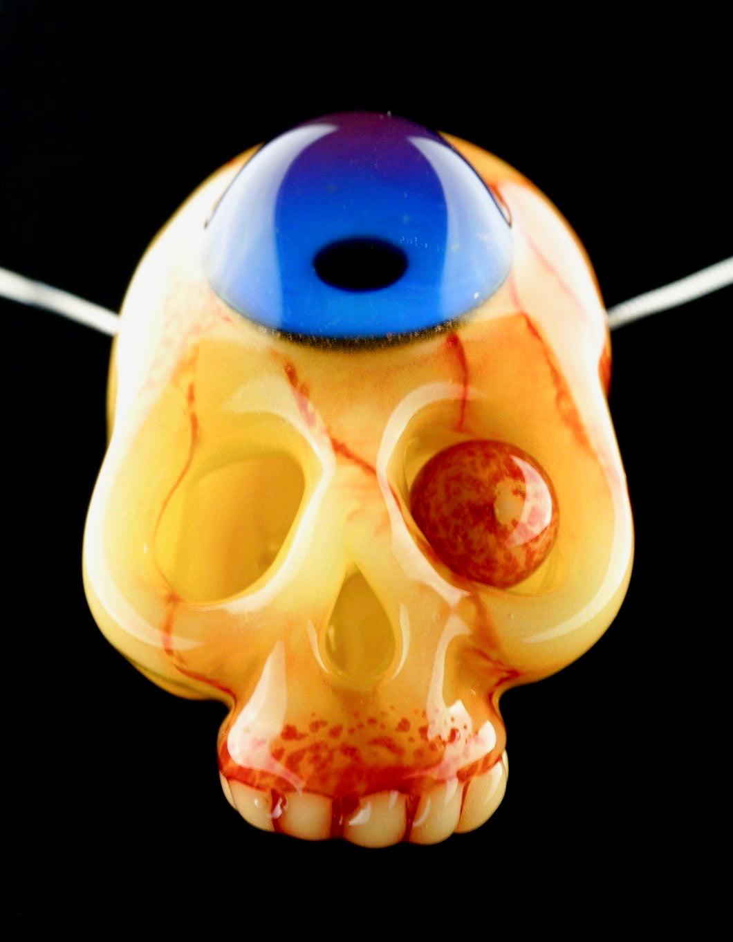 Aquarius Gory Eyeball Skull