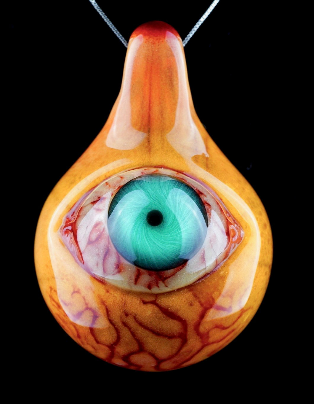 Aquarius Gory Teal Eyeball with Loop Bail