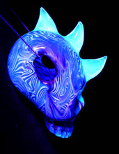 Aquarius Bipolar Horned UV Skull