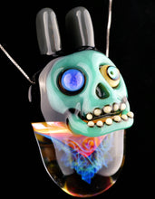 Aquariust & Freeek Fume Implosion Aqua Azul Plug Chappy Skull with UV Eye