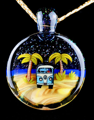 Middleton Glassworks Starry Kombi Beach Pendant + Display Box