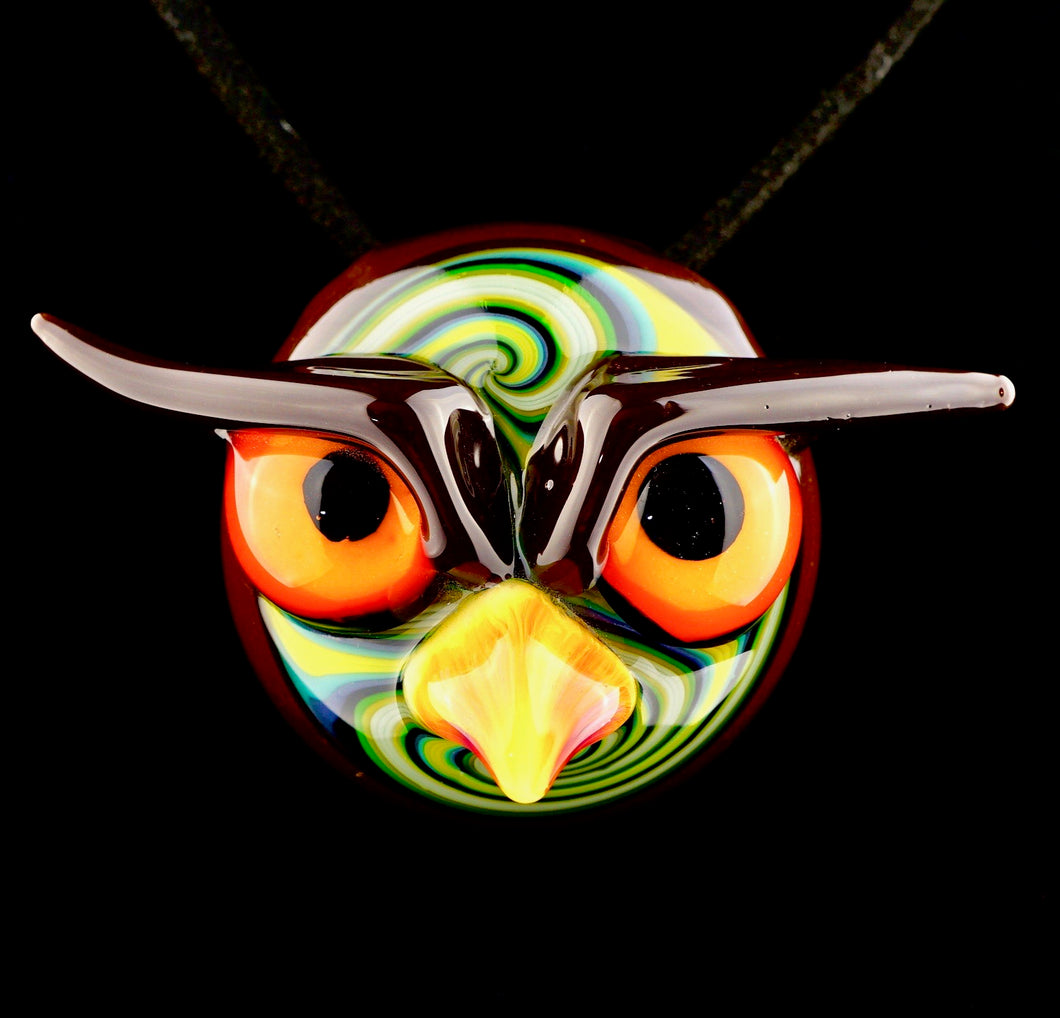 Shack Man Owl Head Pendant
