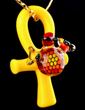 Joe Peters & Snic UV Bee and Honeycomb Ankh Pendant