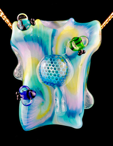 Joe Peters & Regis Honeycomb Tie Dye T-shirt Pendant