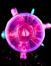 ID Glass Telemagenta Troika Spinner with Fume Bloom and Opal Cabs