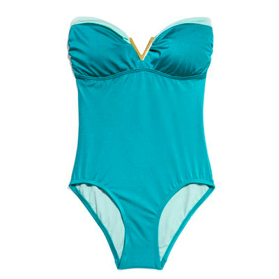 VINCE CAMUTO Bandeau One Piece Swimsuit - Realforlesscorp