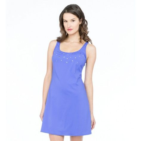 Coco Reef Embellished Solids Studded Perfect Fit Tank Dress in Royal Blue - Realforlesscorp
