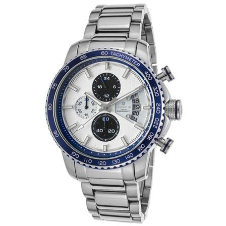 Lancaster Italy Men's Freedom Chronograph Stainless Steel Watch - LANCASTER-OLA1064MB-SS-BN-BL - Realforlesscorp