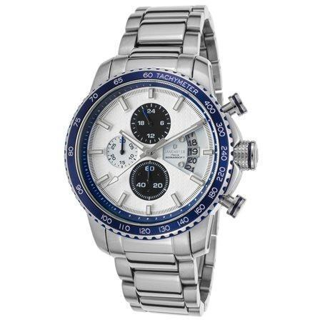 Lancaster Italy-Men's-Freedom-Chronograph-Blue Accent  Watch-LANCASTER-OLA1064MB- Choice of Bracelet Invicta Style - Realforlesscorp