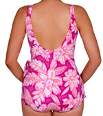 Roxanne Sanibel Island Tropical V-Neck Sarong One Piece Swimsuit - Realforlesscorp