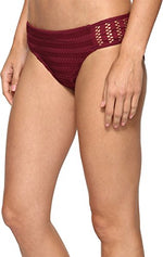 Kenneth Cole New York Women's Side Shirred Hipster Bikini Swimsuit Bottom - Realforlesscorp