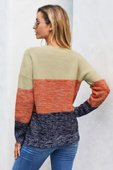 Ruby Color Block Sweater - Realforlesscorp