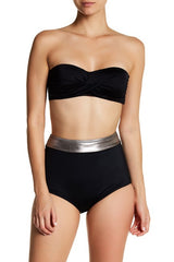 Carmen Marc Valvo Shirley Colorblock High-Waisted Swim Bottom XS - Realforlesscorp