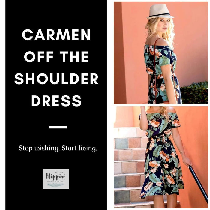 Carmen Off The Shoulder Dress - Realforlesscorp