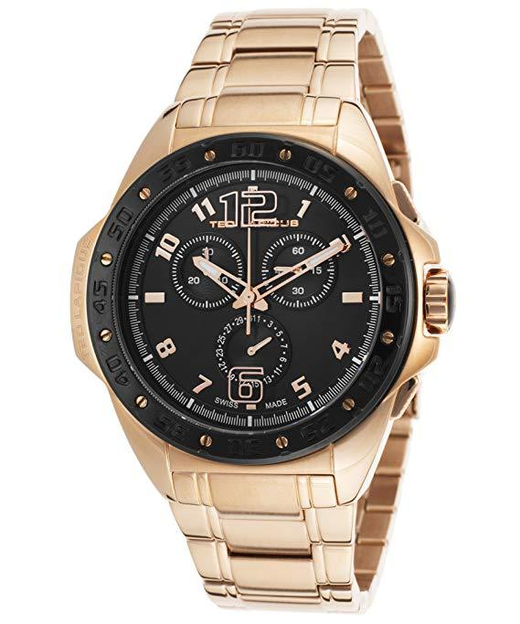 Ted Lapidus Watch For Men, Stainless Steel Strap Color Rose Gold TLAPIDUS-5121511SM-DD - Realforlesscorp