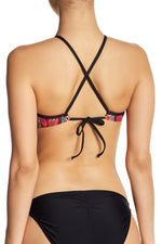Kenneth Cole New York High Neck Printed Bikini Top - Realforlesscorp