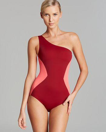 MARC BY MARC JACOBS Kite Appliqué One-Shoulder Maillot One-Piece Swimsuit - Realforlesscorp