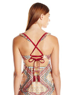 Jessica Simpson Swimwear Day Tripper Crossed Back Tankini Top - Realforlesscorp