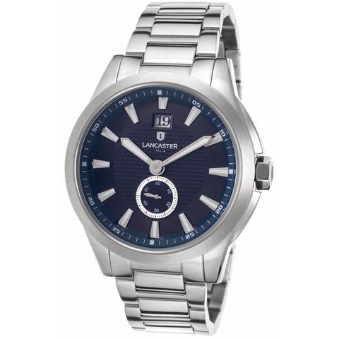 Lancaster Italy Men's Apollo Stainless Steel Navy Blue Dial Stainless Steel Watch - LANCASTER-OLA0666T-MB-SS-BL - Realforlesscorp