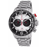 Lancaster Italy Men's Hurricane Chronograph Stainless Steel Silver-Tone Dial Watch - LANCASTER-OLA1063MB-SS-BN - Realforlesscorp
