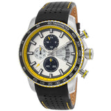 Lancaster Italy Men's Freedom Chronograph Black Genuine Leather White Dial Watch - LANCASTER-OLA1064L-SS-BN-GL-NR - Realforlesscorp
