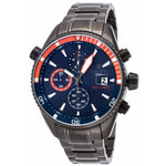 Lancaster Italy Men's Cheyenne Chronograph Gunmetal Ip Ss Blue Dial Watch - LANCASTER-OLA1066MB-GUN-BL-AR - Realforlesscorp