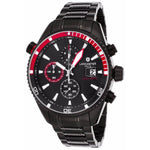Lancaster Italy Men's Cheyenne Chronograph Black Ip Ss Black Dial Watch - LANCASTER-OLA1066MB-BK-NR-RS - Realforlesscorp