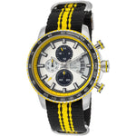 Lancaster Italy Men's Freedom Chronograph Black & Yellow Nylon White Dial Ss Watch - LANCASTER-OLA1064T-SS-BN-GL-NR - Realforlesscorp
