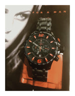 Lancaster Italy Men's Hurricane Chronograph Black Ip Ss Black Dial Watch - LANCASTER-OLA1063S-BK-NR-RS - Realforlesscorp
