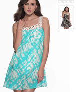 COCO REEF COVER UP DRESS W/ CROCHET NECKLINE - Realforlesscorp