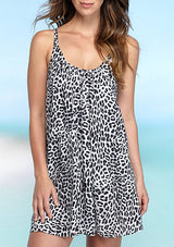 Vince Camuto Vince Camuto Animal Printed Double Strap Cover Up SPRING 2018 - Realforlesscorp