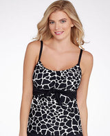 COCO REEF - U07118- CAST BLACK PERFECT TANKINI (Top Only) - Realforlesscorp