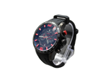 Lancaster Italy Men's Hurricane Chronograph Black Silicone Black Dial Watch - LANCASTER-OLA1063MB-BK-NR-RS - Realforlesscorp