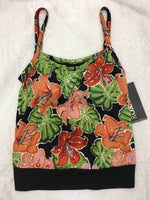 Roxanne Tankini Top Perfection Fit Bra sized Floral print - Realforlesscorp