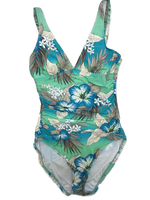 Beach House V-Neck One Piece Swimsuit tropical print - Realforlesscorp