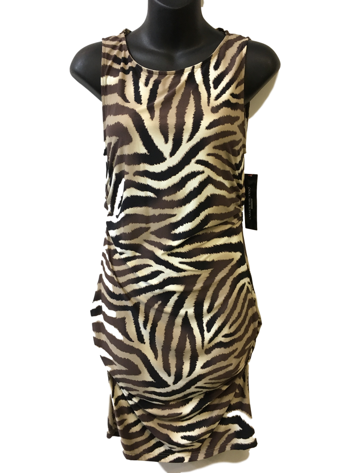 Carmen Marc Valvo- Animal Print Cover up SIZE XS - Realforlesscorp