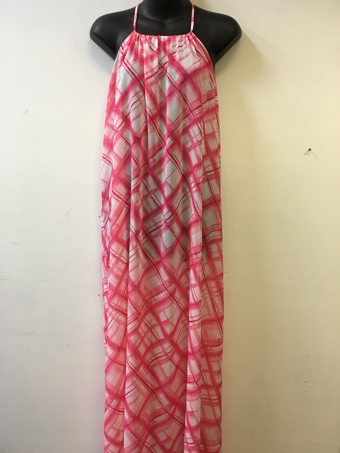 Carmen Marc Valvo Pink Manhattan Kim Maxi Dress Cover-up/Sarong - Realforlesscorp