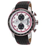 Lancaster Italy Men's Freedom Chronograph Black Genuine Leather White Dial Watch - LANCASTER-OLA1064L-SS-BN-RS - Realforlesscorp