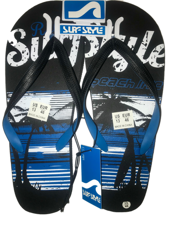 SURF STYLE SURF BLUE FLIP-FLOPS SANDALS - MEN - Realforlesscorp