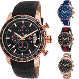 Lancaster Italy - Men's Freedom-Chronograph-Black Dial Rose-Tone - LANCASTER-OLA1064- Color choice and Bracelet Invicta Style - Realforlesscorp