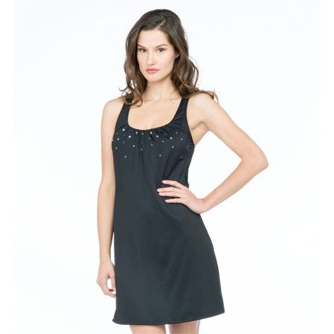 Coco Reef Embellished Solids Studded Perfect Fit Tank Dress in Black - Realforlesscorp