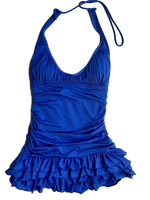 Juicy Couture - Ruffle Swimdress halter swimdress Choice of Colors - Realforlesscorp