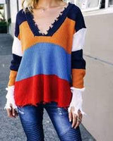 Harley Striped Block Sweater - Realforlesscorp