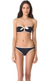 Marc by Marc Jacobs Woodward Solids Bandeau Bikini - Realforlesscorp